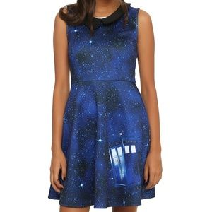Hot Topic Dresses - Hot Topic BBC Dr Who Tardis Galaxy Dress Small